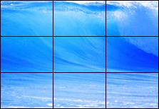 Видеостена из 9 панелей Orion (3х3)